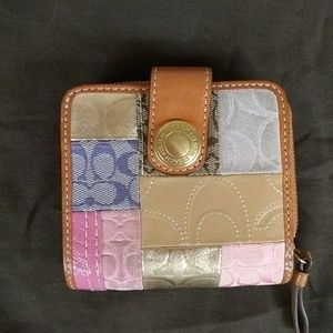 Coach signature spring Patchwork wallet